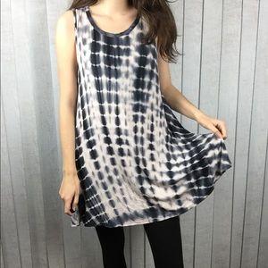 Acemi Tie Dye Oversized Mini Dress / Tunic Blouse